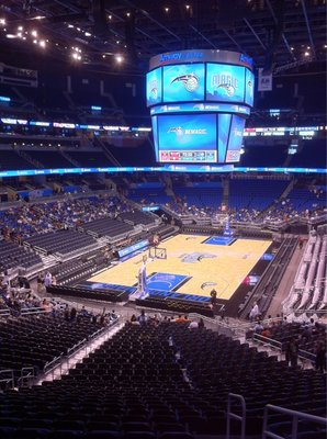 Seat view from section 118 at the Amway Center, home of the Orlando Magic.