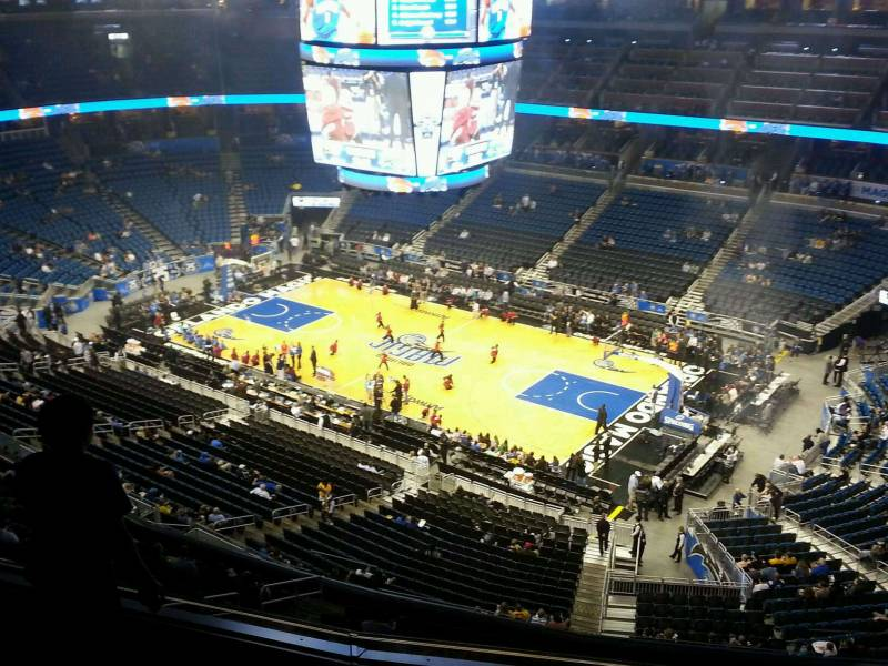 Seat view from section 206 at the Amway Center, home of the Orlando Magic.