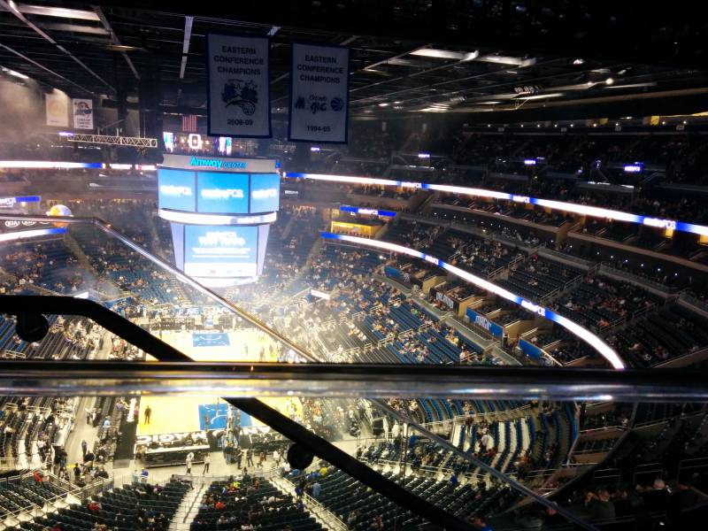 Seat view from section 217 at the Amway Center, home of the Orlando Magic.
