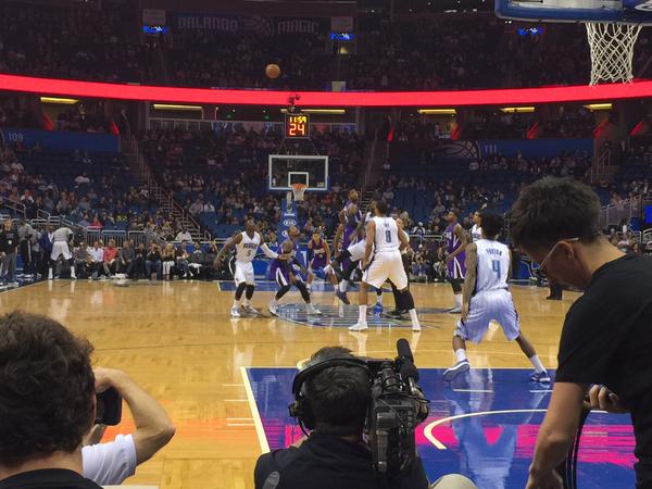 Seat view from Floor South at the Amway Center, home of the Orlando Magic.