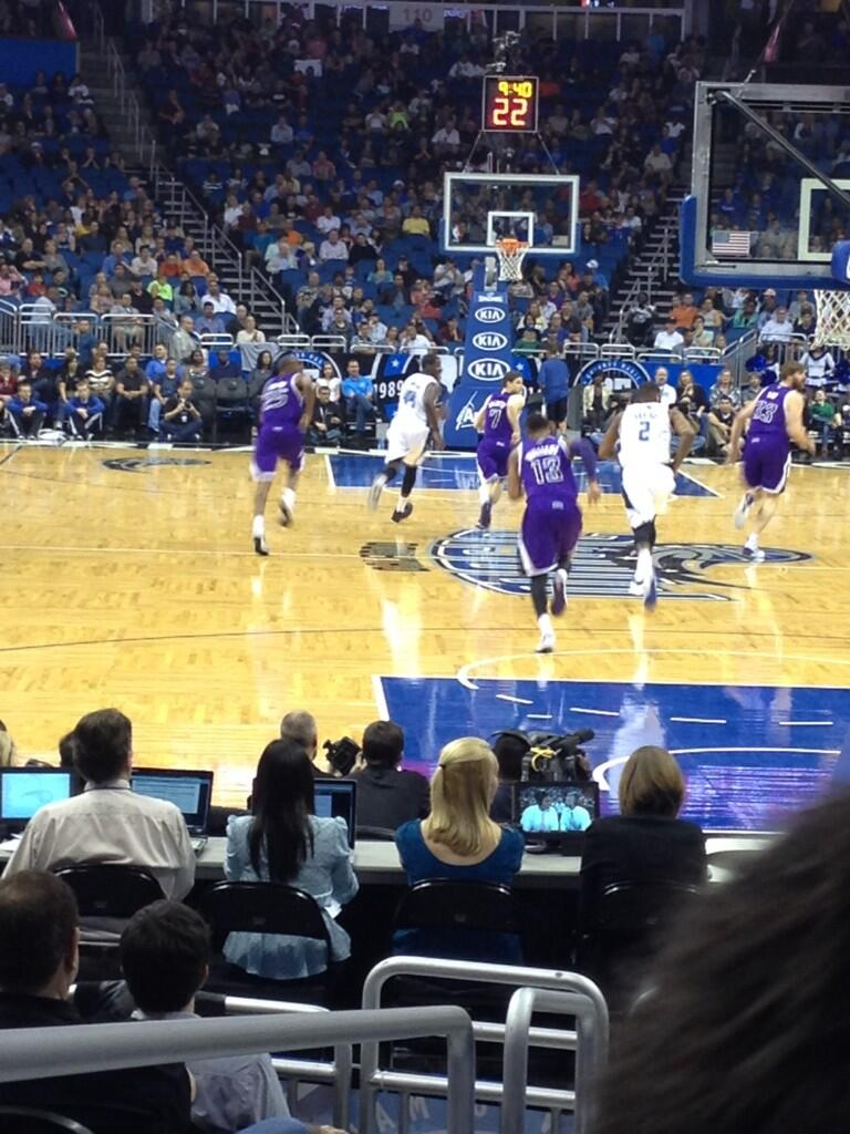 View from Section 101 at the Amway Center, home of the Orlando Magic