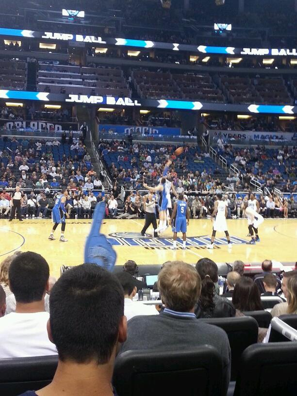 View from Section 106 at Amway Center
