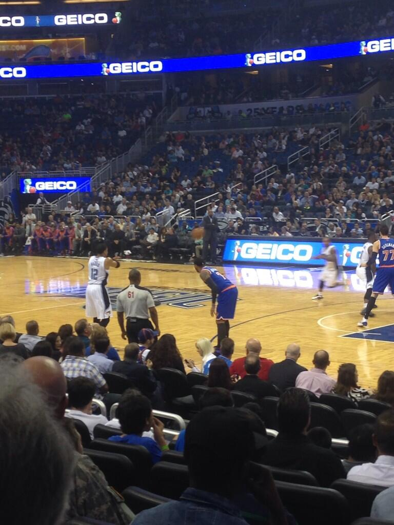Seat view from section 113 at the Amway Center, home of the Orlando Magic.
