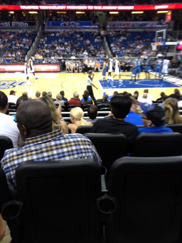 Seat view from section 114 at the Amway Center, home of the Orlando Magic.