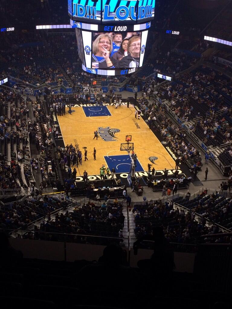 Seat view from section 202 at the Amway Center, home of the Orlando Magic.