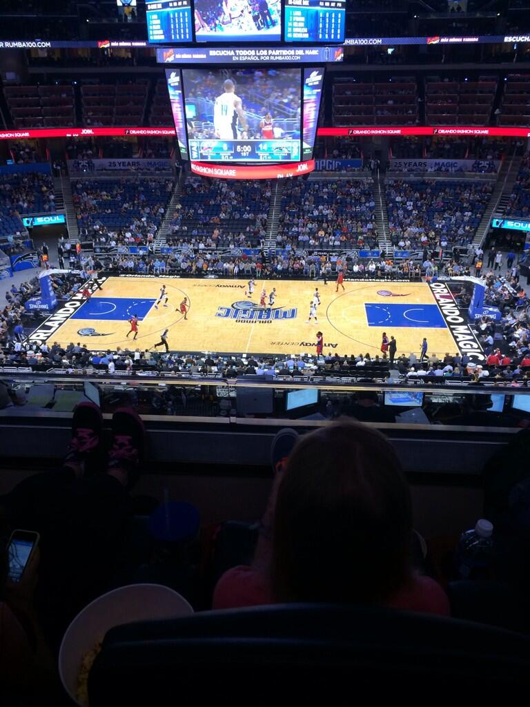 Seat view from section 209 at the Amway Center, home of the Orlando Magic.