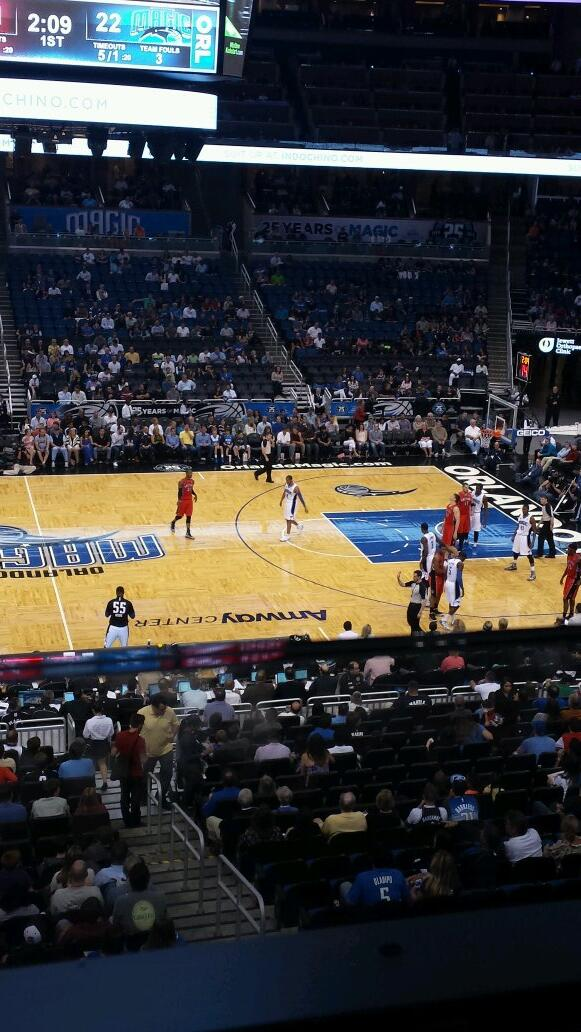 Seat view from Club D at the Amway Center, home of the Orlando Magic