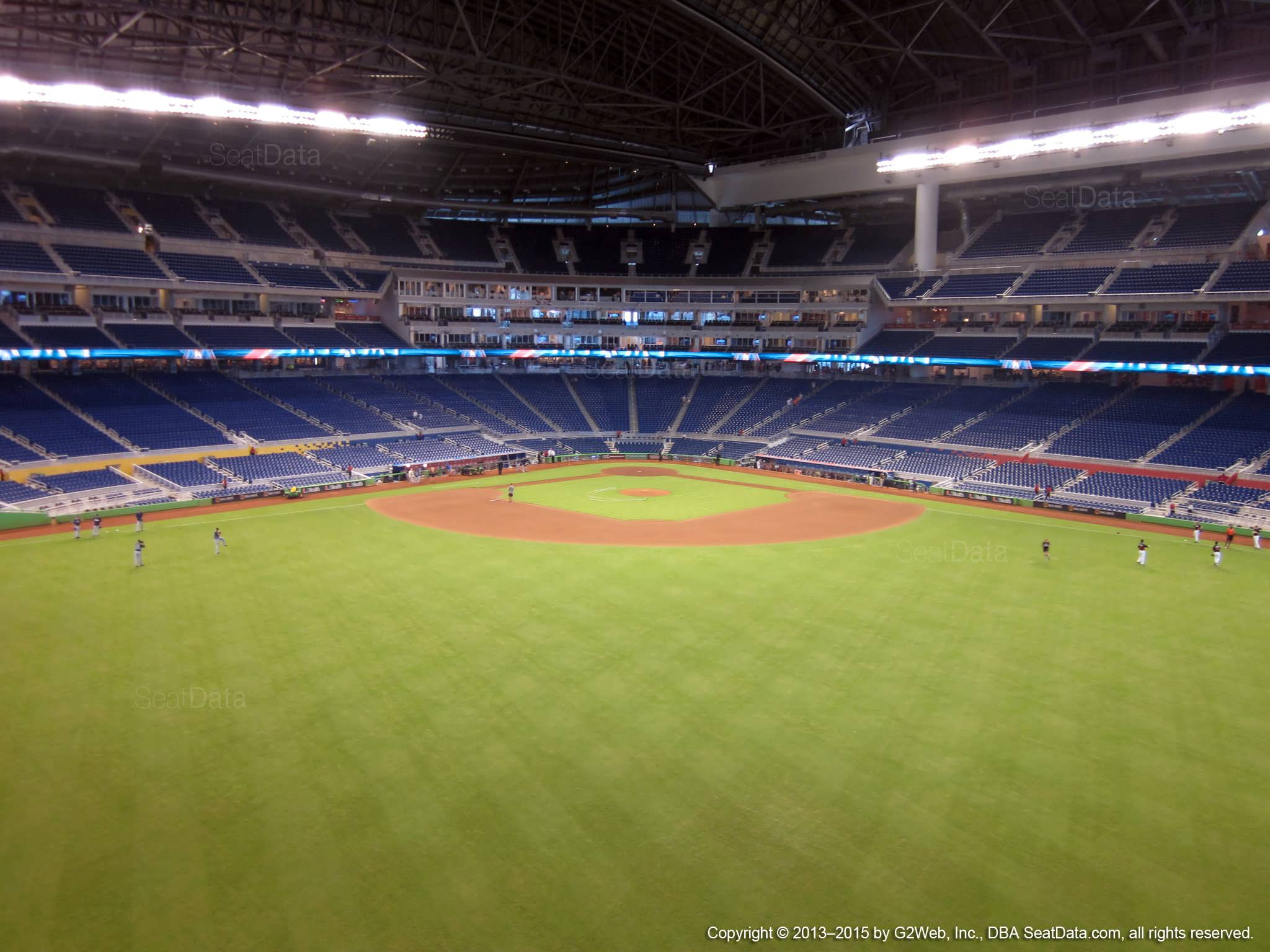 Seat view from section 134 at Marlins Park, home of the Miami Marlins