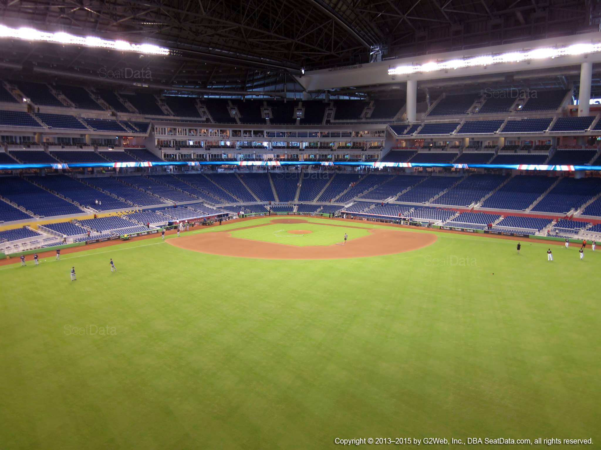 Seat view from section 135 at Marlins Park, home of the Miami Marlins