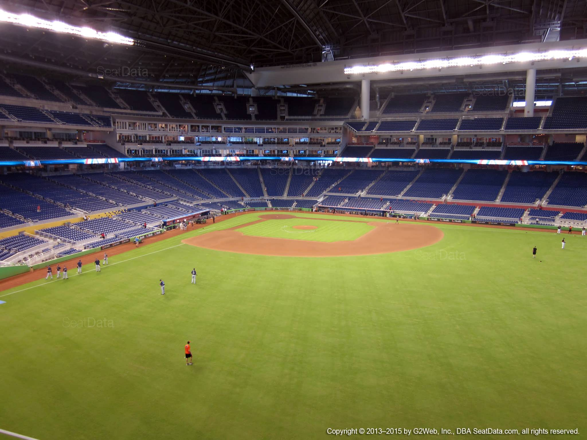 Seat view from section 137 at Marlins Park, home of the Miami Marlins