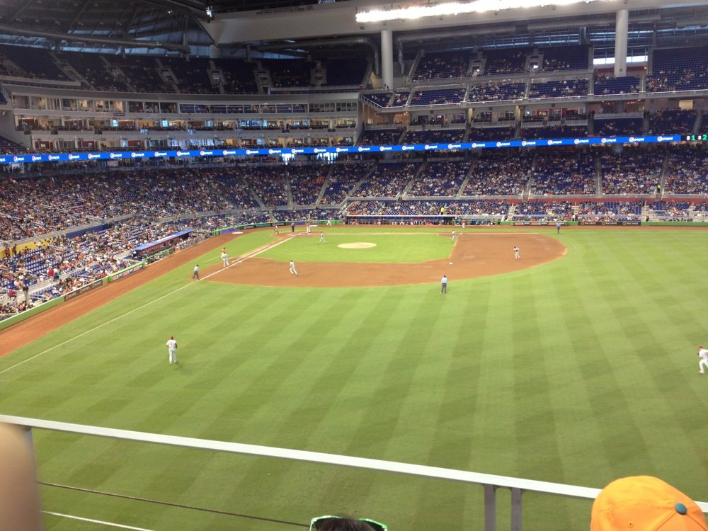 Seat view from section 139 at Marlins Park, home of the Miami Marlins