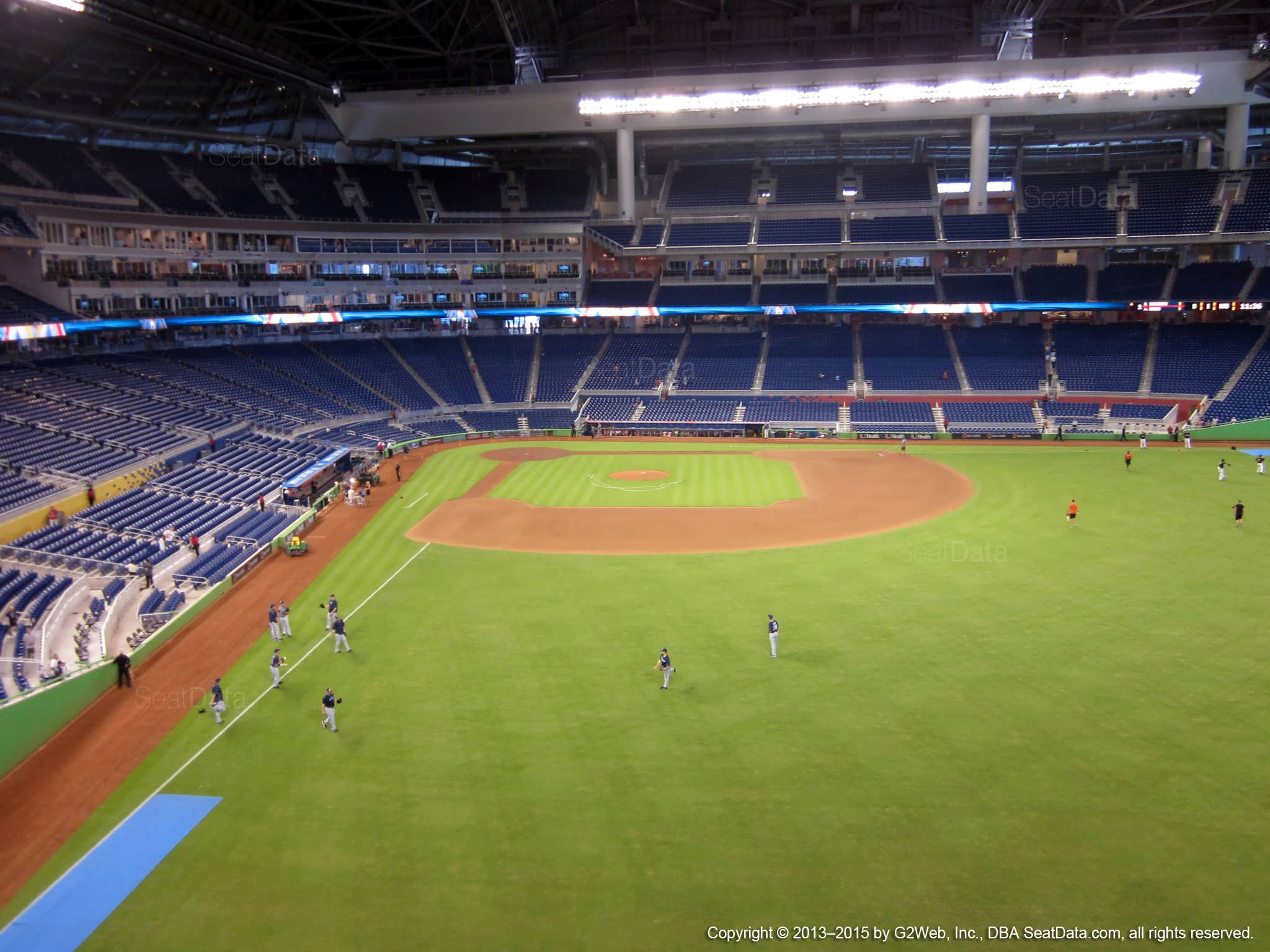 Seat view from section 140 at Marlins Park, home of the Miami Marlins