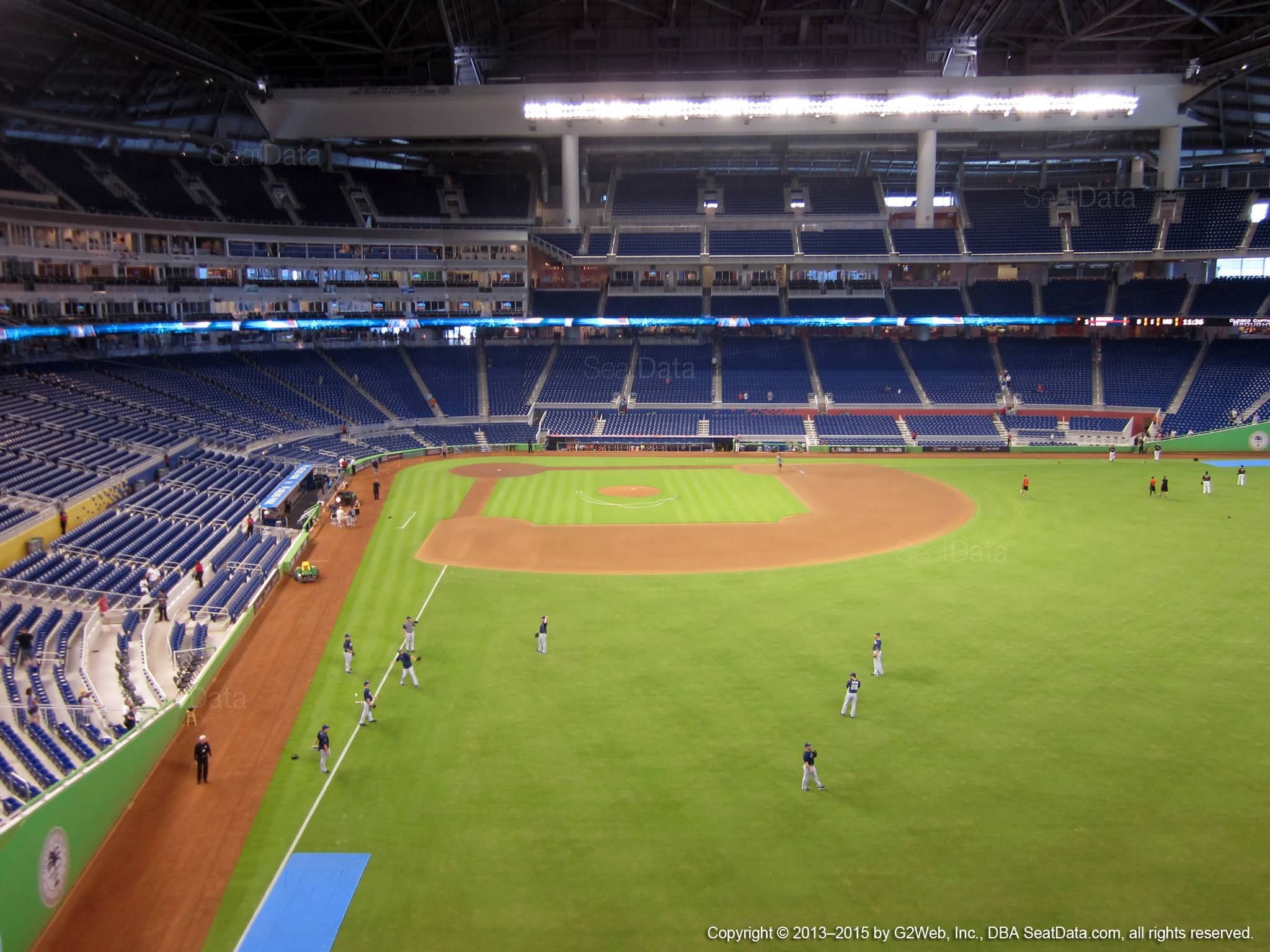 Seat view from section 141 at Marlins Park, home of the Miami Marlins