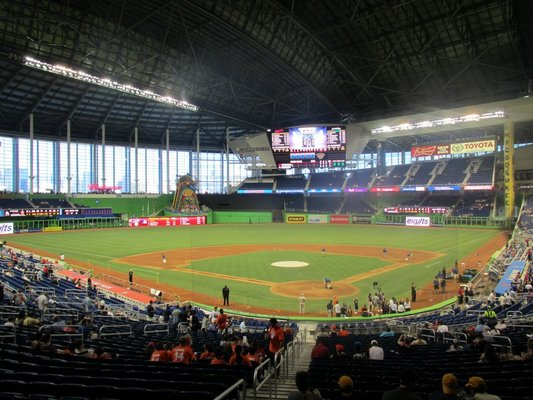 Seat view from section 15 at Marlins Park, home of the Miami Marlins