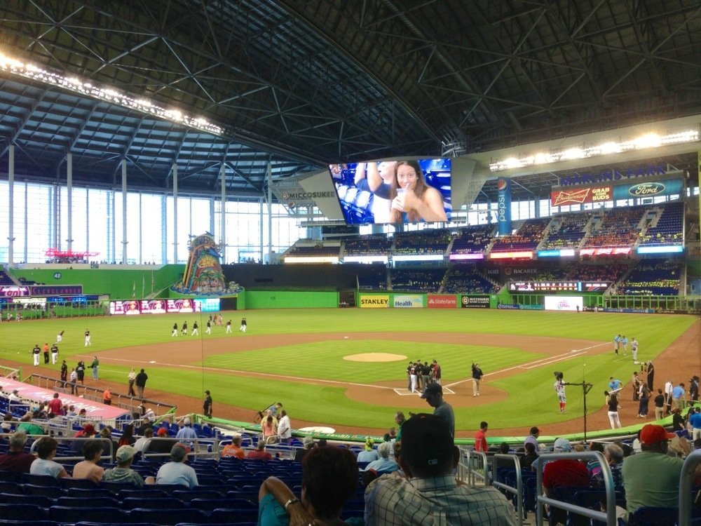 Seat view from section 16 at Marlins Park, home of the Miami Marlins