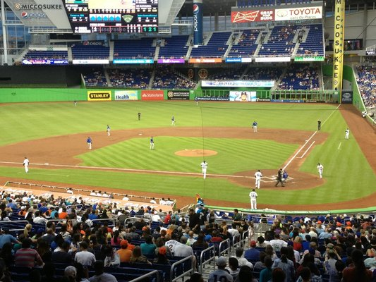 Seat view from section 17 at Marlins Park, home of the Miami Marlins