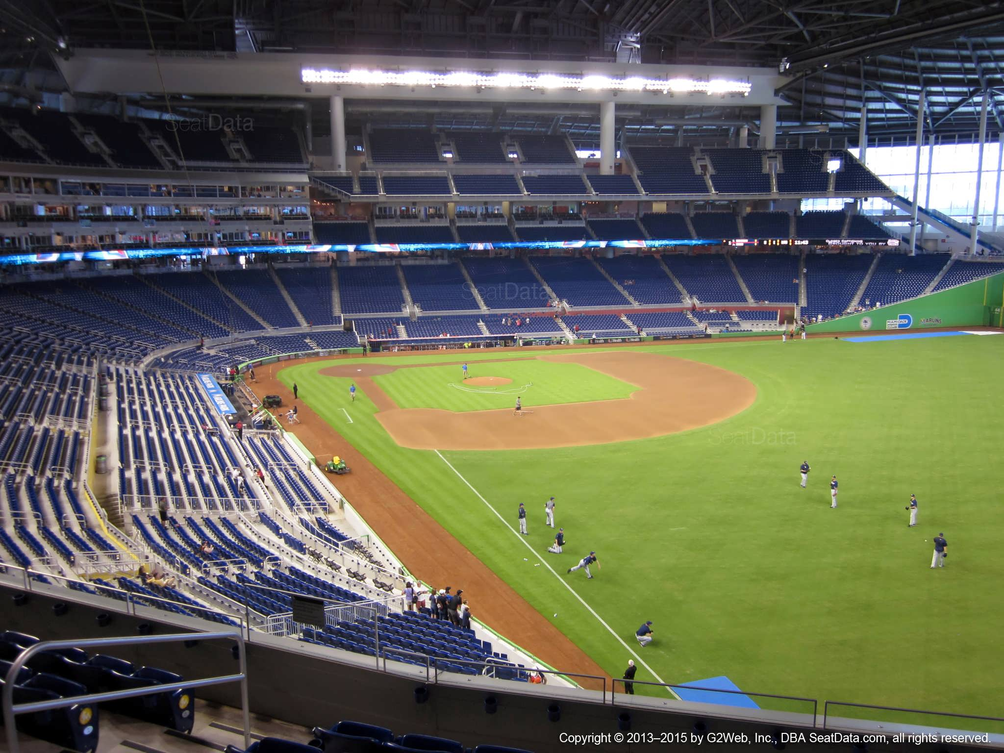 Seat view from section 201 at Marlins Park, home of the Miami Marlins