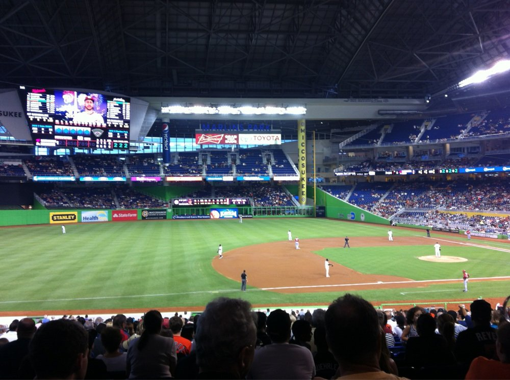 Seat view from section 22 at Marlins Park, home of the Miami Marlins