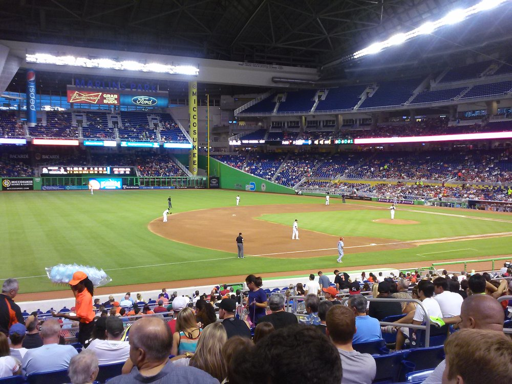 Seat view from section 23 at Marlins Park, home of the Miami Marlins