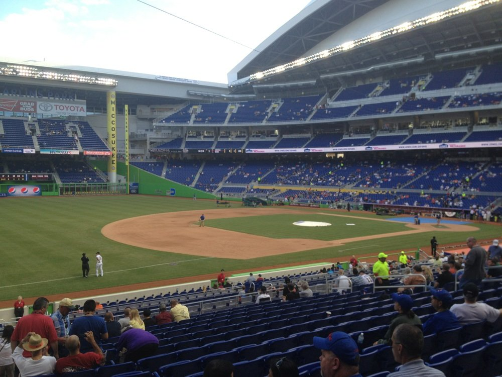 View from Section 23 at Marlins Park