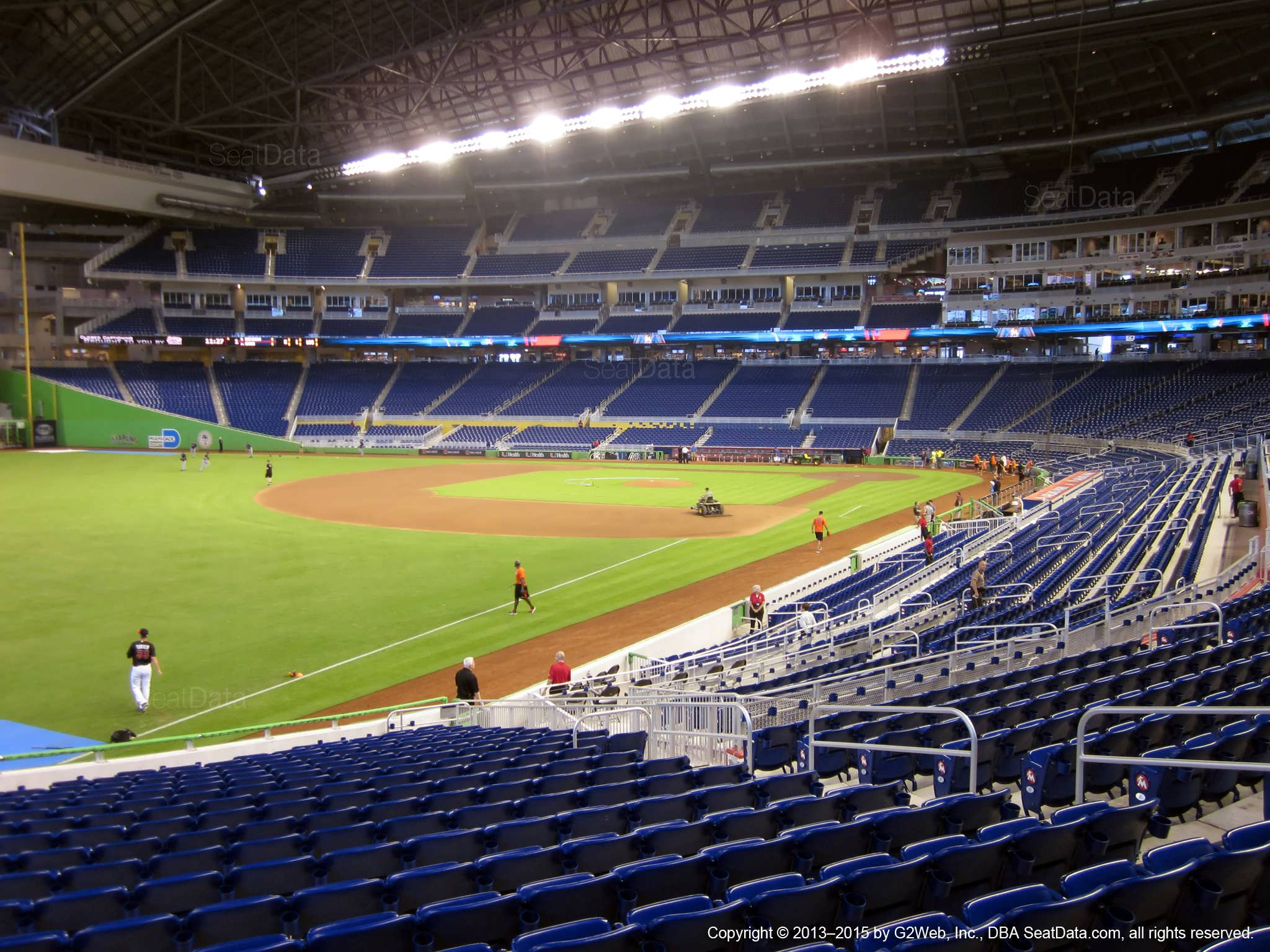 View from Section 26 at Marlins Park