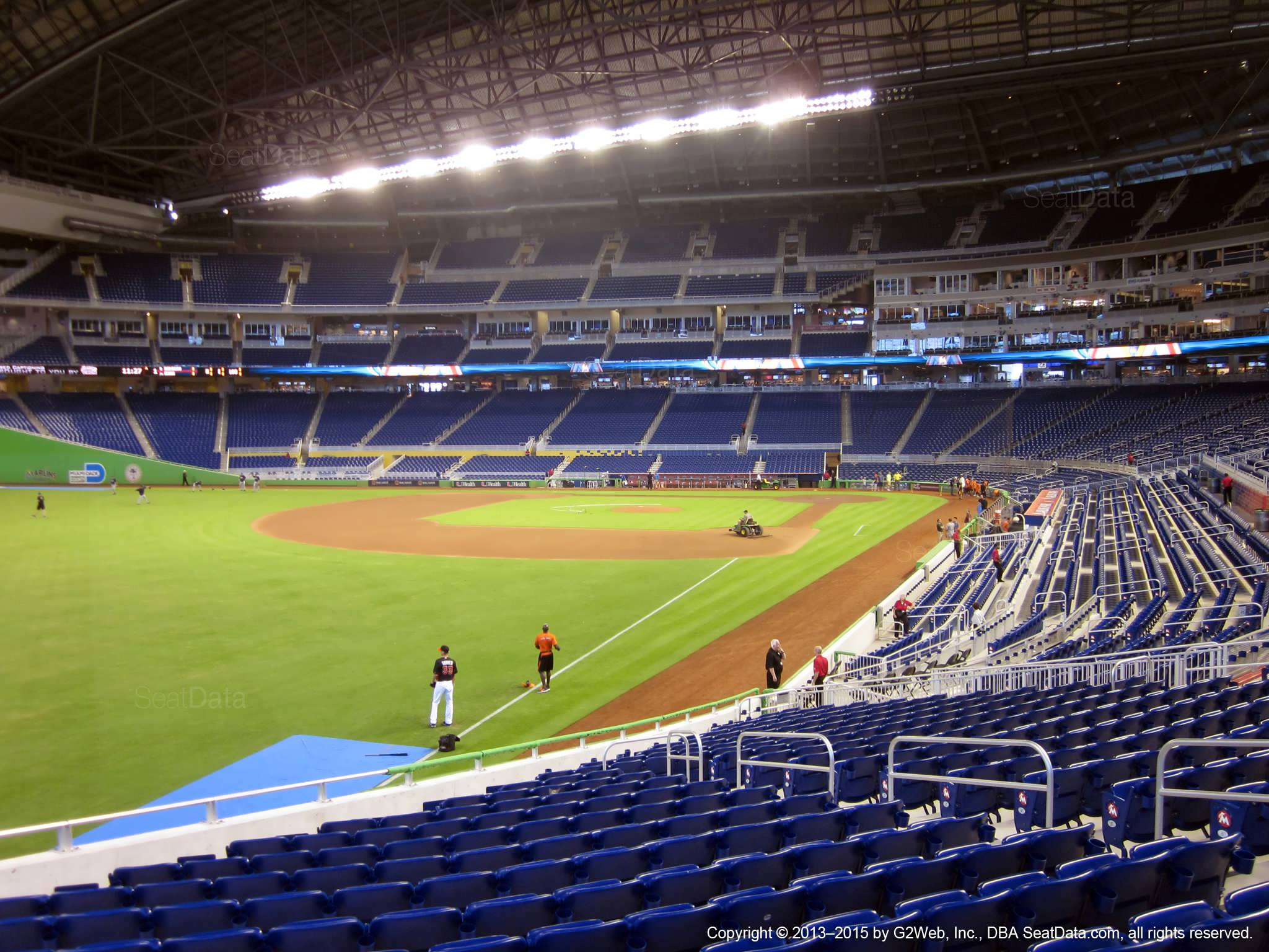 Seat view from section 27 at Marlins Park, home of the Miami Marlins