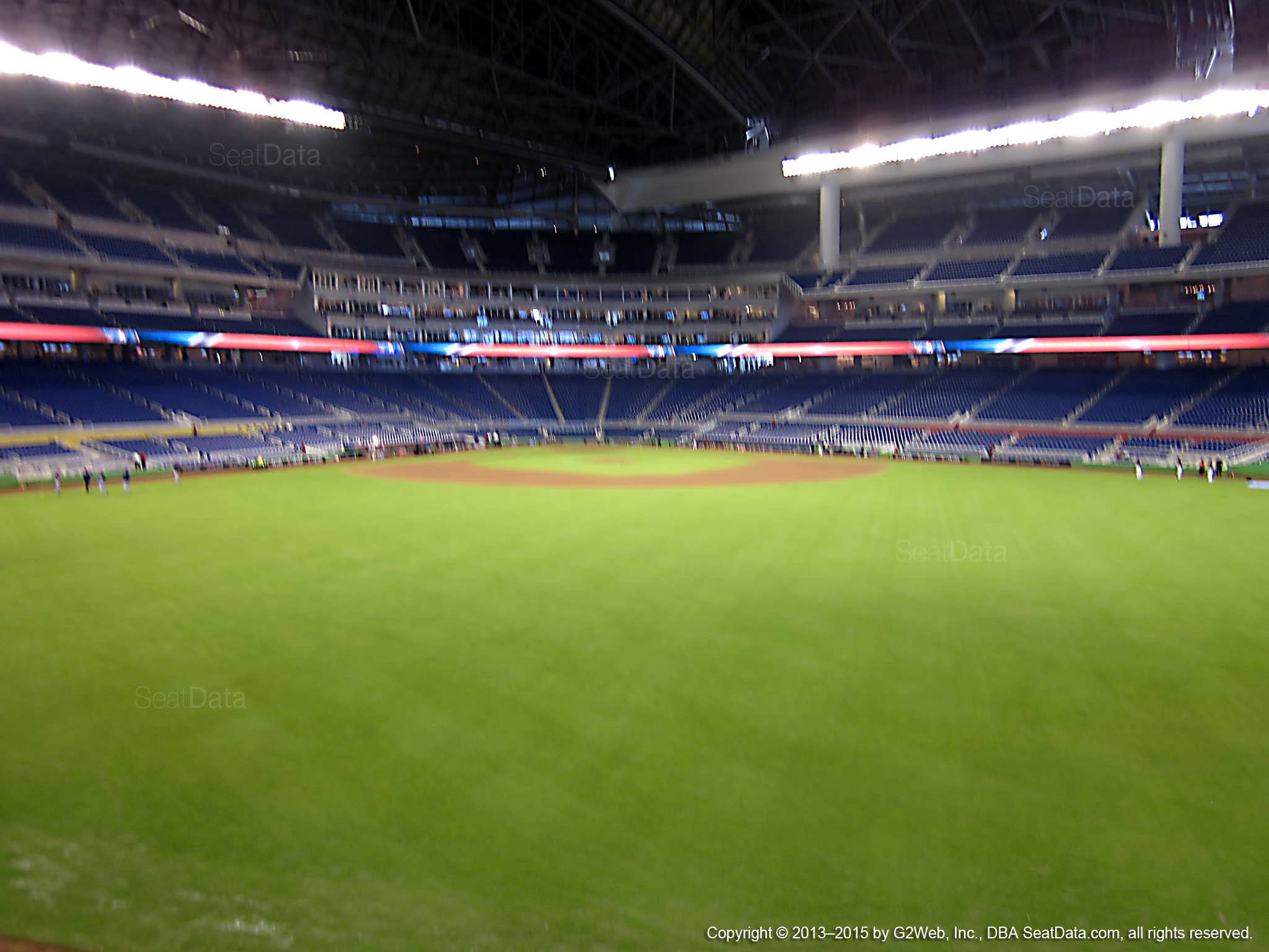 Seat view from section 33 at Marlins Park, home of the Miami Marlins