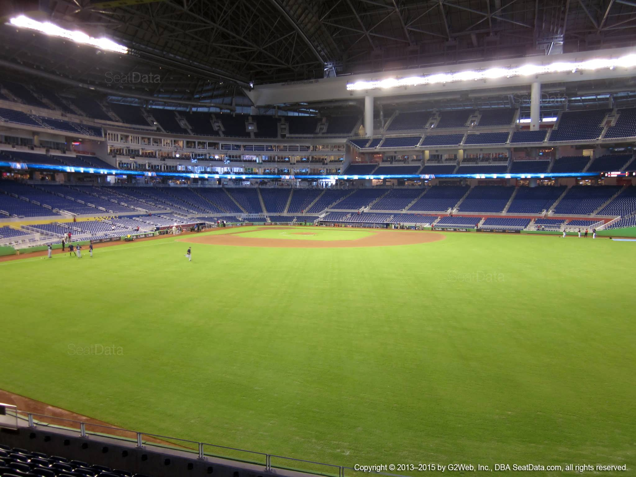 Seat view from section 36 at Marlins Park, home of the Miami Marlins