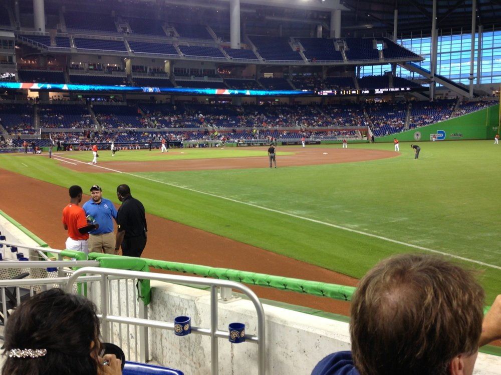Seat view from section 3 at Marlins Park, home of the Miami Marlins