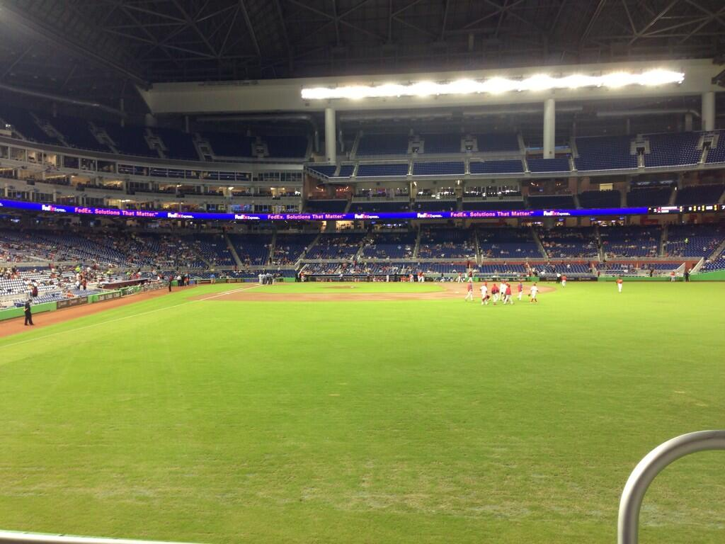 Seat view from section 40 at Marlins Park, home of the Miami Marlins