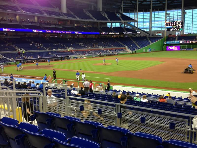 Seat view from section 7 at Marlins Park, home of the Miami Marlins