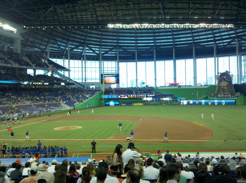 Seat view from section 8 at Marlins Park, home of the Miami Marlins