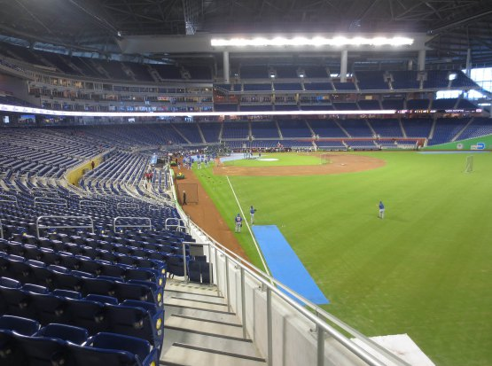 Seat view from section 1 at Marlins Park, home of the Miami Marlins