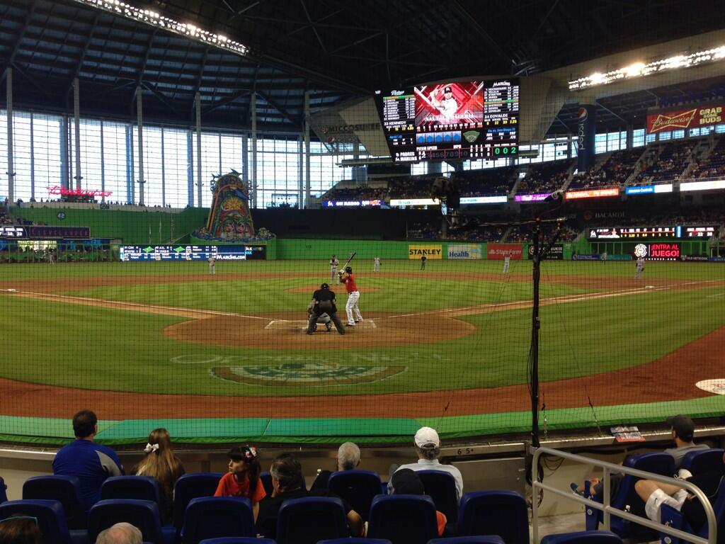 Seat view from section FL 6 at Marlins Park, home of the Miami Marlins