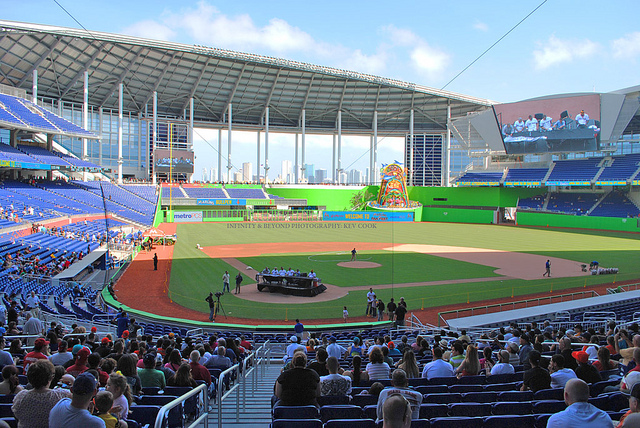Seat view from section 12 at Marlins Park, home of the Miami Marlins