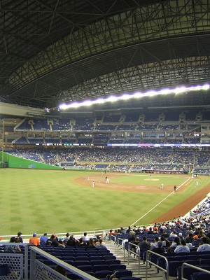 Seat view from section 28 at Marlins Park, home of the Miami Marlins