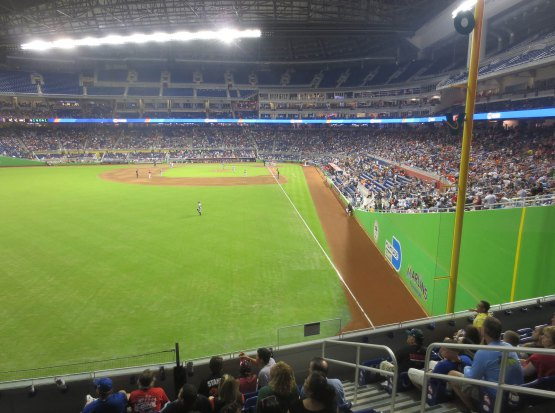 View from Section 30 at Marlins Park