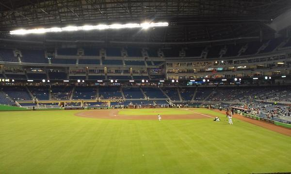 Seat view from section 31 at Marlins Park, home of the Miami Marlins
