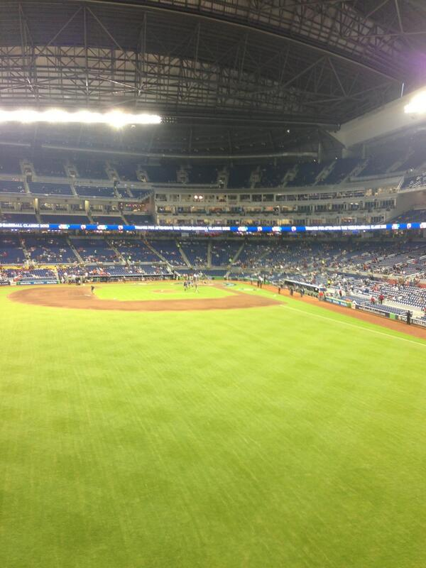 Seat view from section 32 at Marlins Park, home of the Miami Marlins