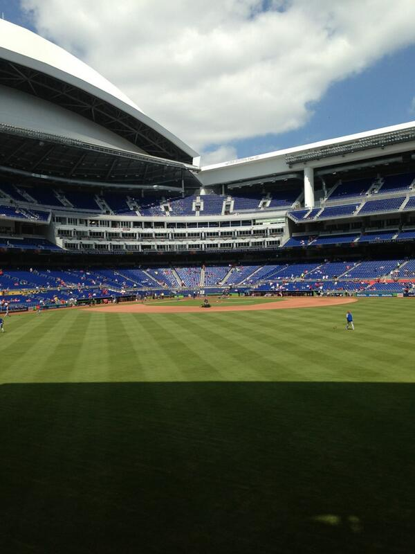 Seat view from section 34 at Marlins Park, home of the Miami Marlins