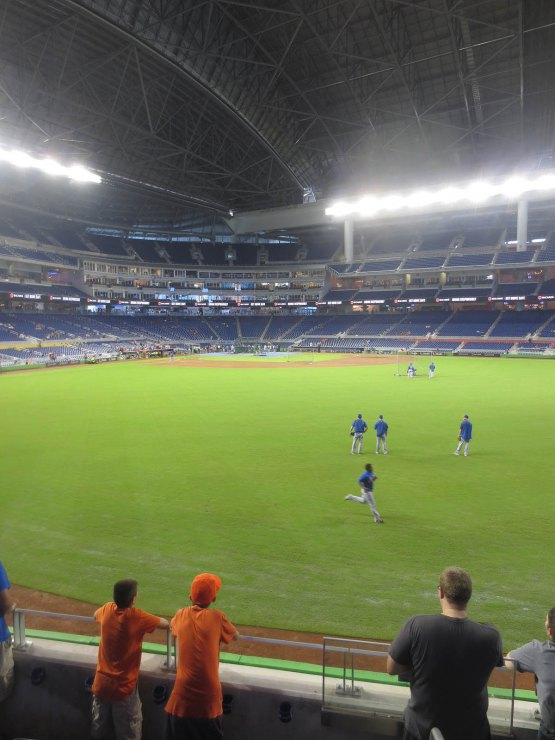 View from Section 35 at Marlins Park