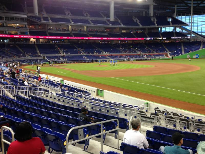 Seat view from section 4 at Marlins Park, home of the Miami Marlins