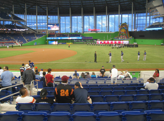 Seat view from section 6 at Marlins Park, home of the Miami Marlins
