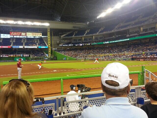 Seat view from section 21 at Marlins Park, home of the Miami Marlins