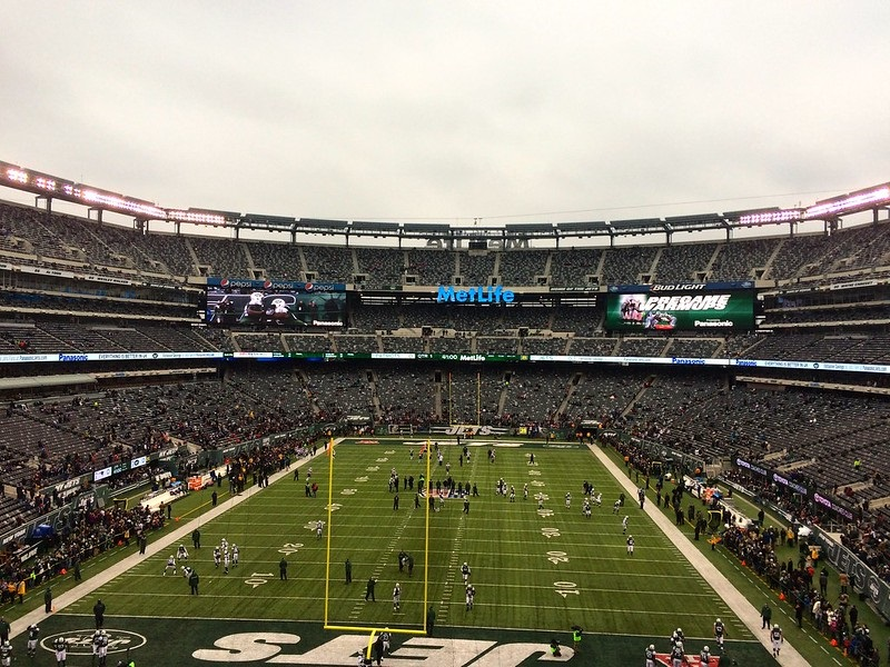 Photo taken from the mezzanine level seats at Metlife Stadium during a New York Jets home game.