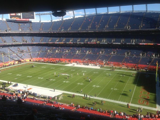 View from the suites at Empower Field at Mile High during a Denver Broncos game.
