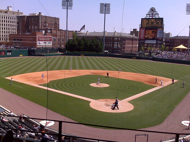 Photo of Autozone Park in Memphis, Tennessee. Home of the Memphis Redbirds.
