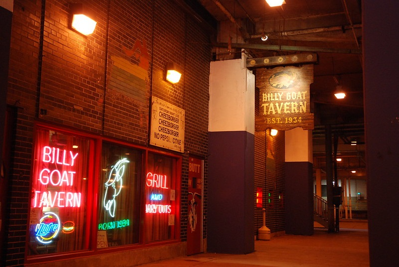 Photo of the Billy Goat Tavern in Chicago, Illinois.
