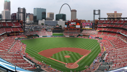 Panorama of Busch Stadium. Home of the St. Louis Cardinals.