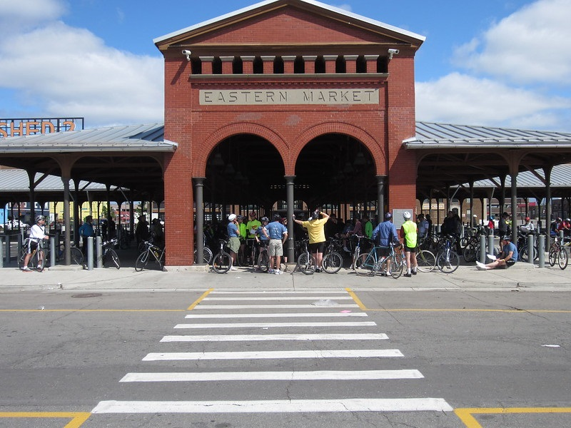 Exterior photo of the Eastern Market in Detroit, Michigan.